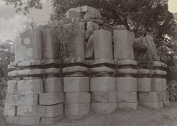 General view of a small ruined temple, Sarjari Khurd, Jhansi District